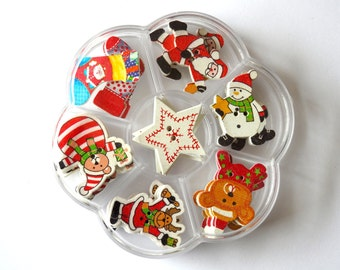 Wooden Buttons Pack, Christmas Styles