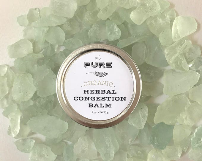 Featured listing image: Organic Herbal Congestion Balm