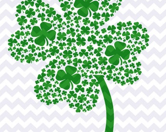 Iron on Transfer DIY- Children's St. Patrick's Day Shamrock Iron on- Iron on for St. Paddy's Day