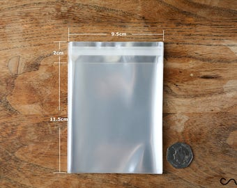 10/50/100 Clear Cellophane OPP Plastic Bag Self Adhesive Display Peel & Seal 9x14cm Free UK Delivery High Quality 40 micron Thick