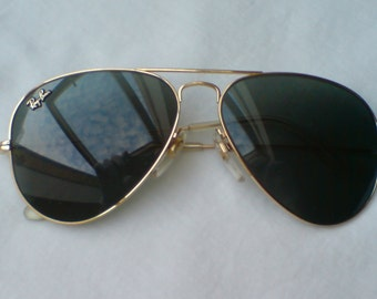 Ultra Rare Vintage Ray-Ban Aviator Gold Masterpiece W1904 58 [] 14 Excellent Condition