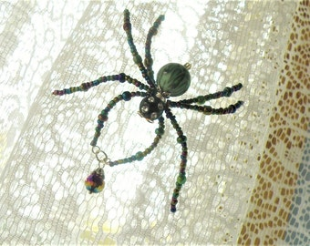 Taking Orders for Custom Christmas and Lucky Spiders; Handmade Ornament; Custom Made to Your Specifications; Original Spectacled Spiders