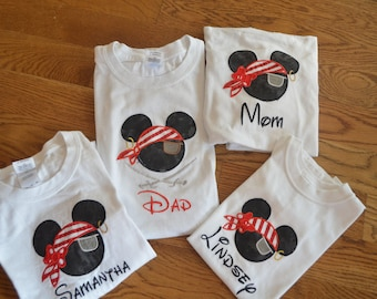 Disney Family Shirts - Pirates