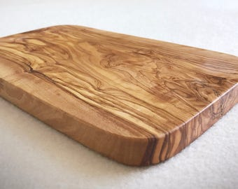 Handmade rectangular olive wood cheese board