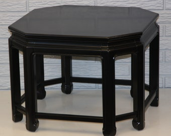 Black Octagon Side Table