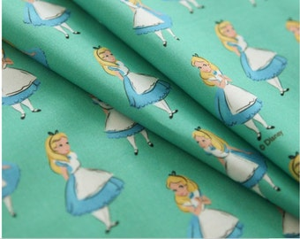 Alice in Wonderland Fabric made in Korea by the Half Yard