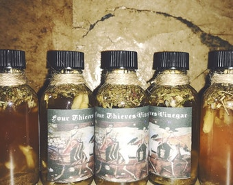 Four Thieves Vinegar - Witchcraft - Hoodoo - Pagan - Occult - Voodoo - Banishing - Floorwash - Healing - Protection - Magick - Ritual -