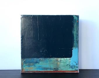 BOULDER.. abstract art, abstract painting, art, canvas art, contemporary art, painting, blue art, small painting,wall art, modern art