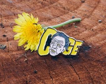 """Nicolas Cage """"Cage Face"""" Enamel Lapel Pin"""