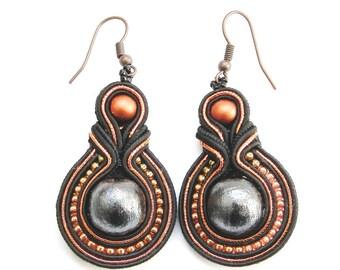 Soutache earrings, handmade, Jewelry, New earrings, Fashion Jewelry, Super Chic Simple Styles