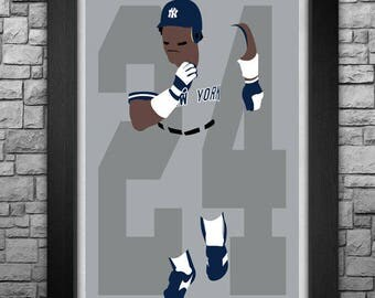 RICKEY HENDERSON minimalism style limited edition art print. Choose from 3 sizes!