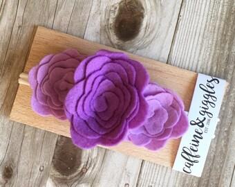 Purple & Lavender || Mini Flower Crown {Head Band}