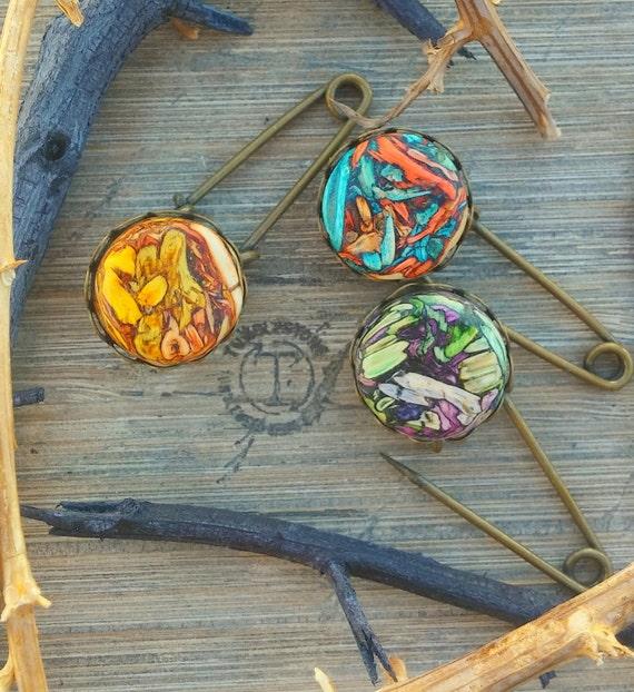 Tumbleweed Safety Pin Brooch