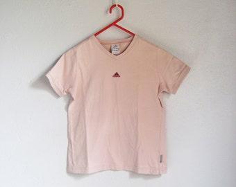 VINTAGE ADIDAS Cute Pink Junior Kids T-Shirt Girls - Size 12