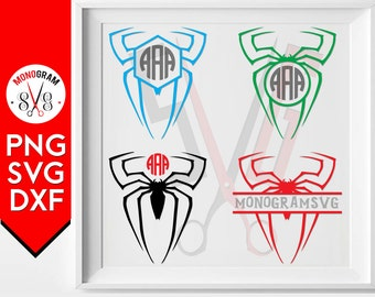 Spider svg files, Spider Monogram svg, Spiderman Logo svg, Spider Silhouette file, Cuttable Spider Svg files for Cricut Design, Monogram svg