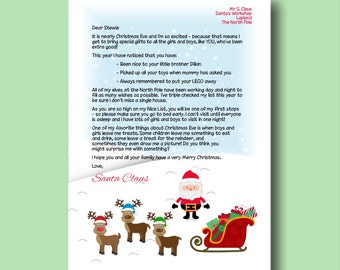 Personalised letter from santa claus wooden letter from editable letter from santa printable letter from santa nice list letter personalized letter from santa spiritdancerdesigns Gallery