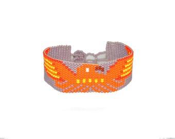 Bracelet, bracelet made of glass beads, summer bracelet two