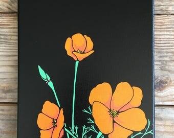Spring is the new black, CA poppy