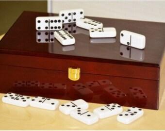 Plain Double 12 Piano Finish Wooden Box