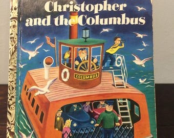"""1951 Christopher and the Columbus a Little Golden Book """"A"""" edition"""