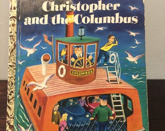 "1951 Christopher and the Columbus a Little Golden Book ""A"" edition"