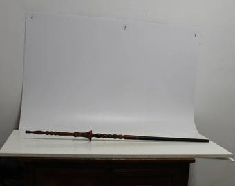 Antique Primitive Hand Carved Distaff Wool Spindle For Hand Spinning