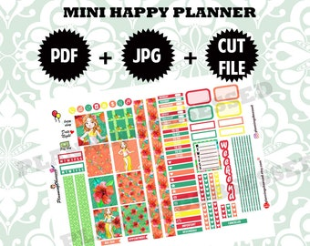 SALE 25% OFF/ MINI Happy Planner stickers / mini happy planner printable stickers/ planner stickers