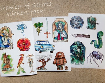 Harry Potter stickers (Chamber of Secrets)