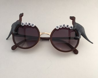 Dino Queen Embellished Sunglasses