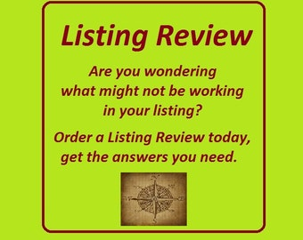 Listing Review Title Tags, SEO Help Listing Review, Etsy Listing Help Listing Reviews, Relevancy Listing Help Review,