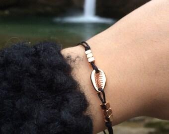 Discreet bracelet shell black/rose gold