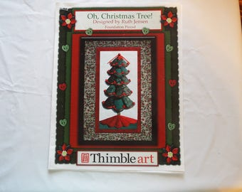Thimble Art Oh, Christmas Tree foundation pieced quilt pattern