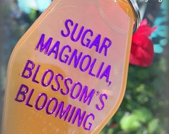 "GRATEFUL DEAD inspired keytag ""Sugar Magnolia, Blossom's Blooming"""