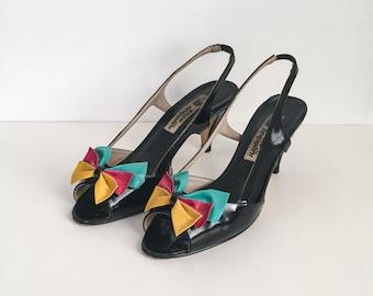 Vintage Sandals, Vintage Slingback Sandals, Vintage Spring Heels, Vintage Summer Heels