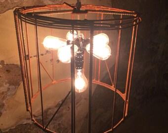 Industrial-Vintage 6-Light Chandelier