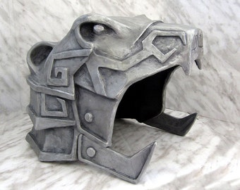 Skyrim Nordic Carved Armor Helmet for Larp, Cosplay and Elder Scrolls Life Sized Display Collectible