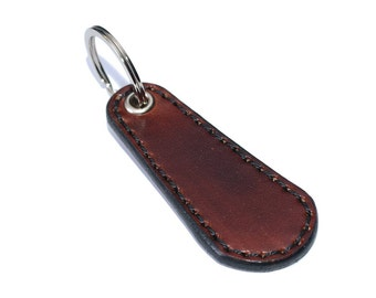 Brown Leather Key Fob / Keychain Wristlet, Leather Keychain, Leather Key Holder / Mens Keychain, Leather Key Ring, Leather Key Chain