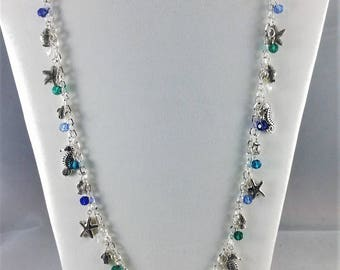 Sea Life long chain necklace