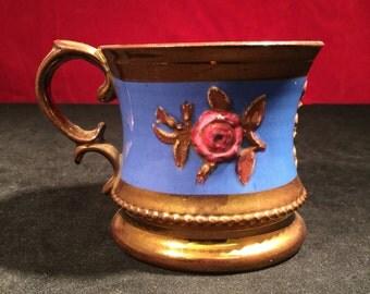 Staffordshire Copper Lustre Mug c1870