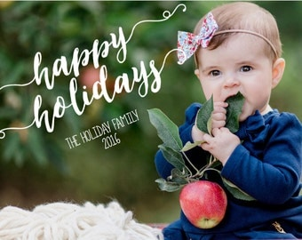 Happy Holidays 5x7 Christmas Photo Card