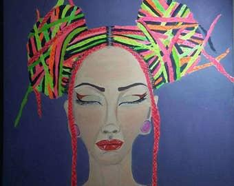 Bohemian Lady. Acrylic on canvas