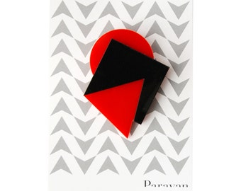Geometric brooch, FREE SHIPPING