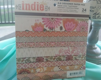 6x6 MME paper pad,Indie Chic Collection