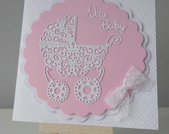 New baby card, Personalised birth card, Baby boy card, Baby girl card, personalised card, Birth announcement card,