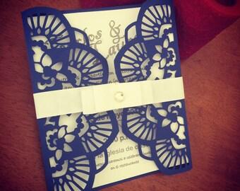 Laser cut Wedding invation card envelope. invitation enclosure