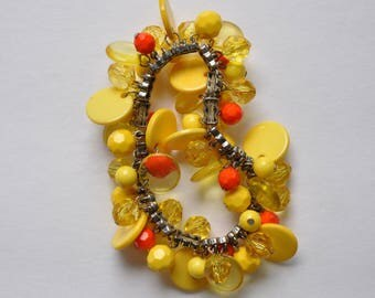 Sunshine Yellow and Orange Bracelet