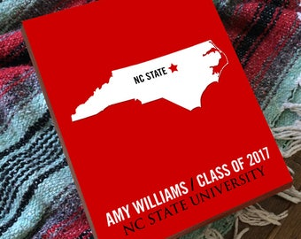 NC State - NC State Wolfpack - North Carolina State University - NC State University -  College Graduation Gift