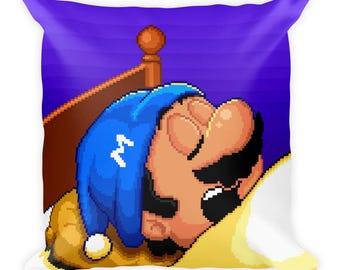Super Mario Bros. 2 Sleeping Mario Pillow