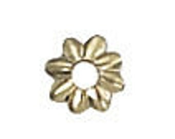 4mm Gold Filled Flower Bead Cap - 100 pcs.