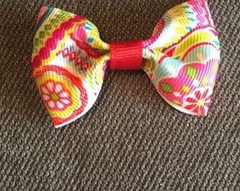 Colorful Paisley Tuxedo Hair Clip